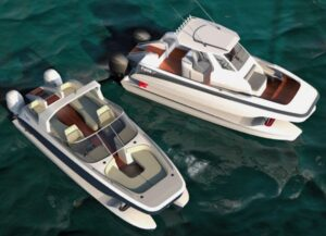 Speed meets Comfort meets Function. Introducing the biggest evolution in boating since the deep vee hull.