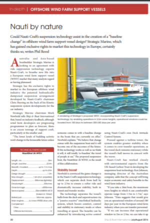 """Nauti-Craft features in the Royal Institute of Naval Architects """"Ship and Boat"""" magazine."""